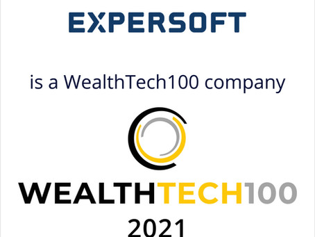 Expersoft is honoured to be included in WEALTHTECH 100's prestigious list of innovative companies.
