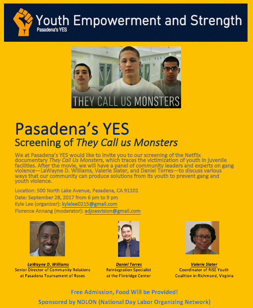 "Screening of ""They Call Us Monsters"" and Panel"