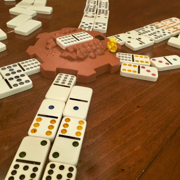Fun Family Time with                       Mexican Train Dominoes
