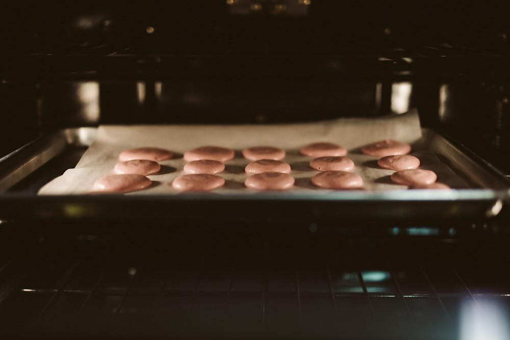 Macarons baking, 50, fabulous & finally free