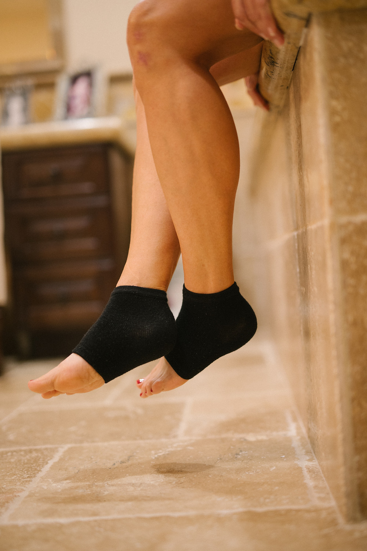 Ladies legs with gel socks, 50 fabulous & finally free.com