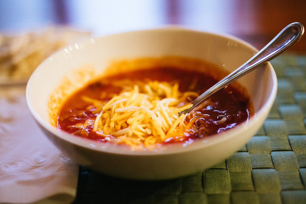 Bowl of chili with cheese, 50, Fabulous and Finally Free.com