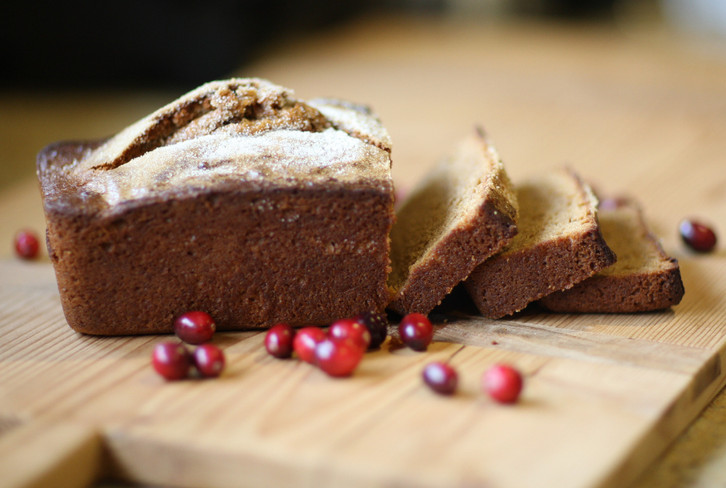 Festive Pumpkin Cranberry Bread