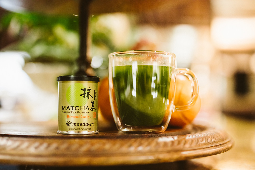 Hot tea cup with matcha tea, Fifty, fabulous & finally free