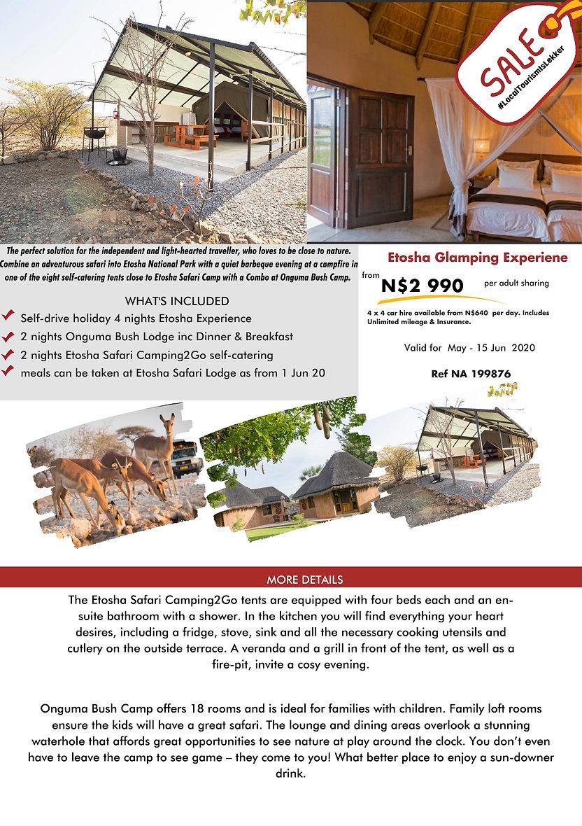 Etosha Glamping Experience Namibia Holidays