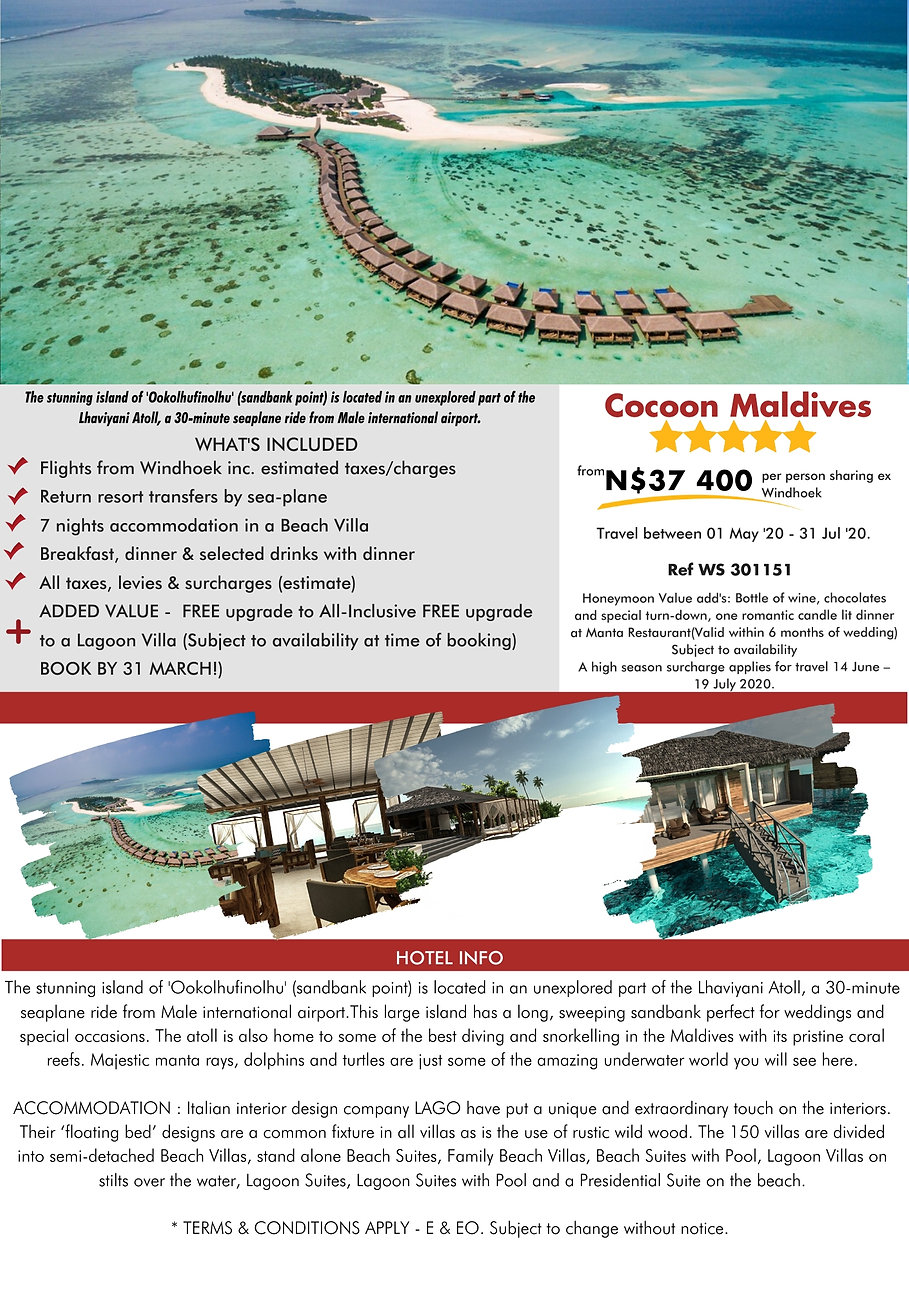 Cocoon Maldives Beach Holidays
