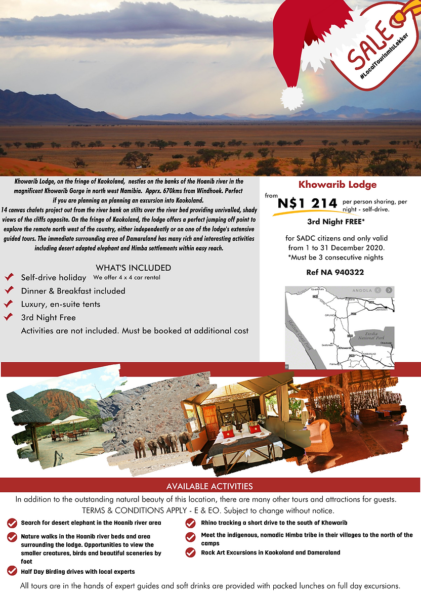 Khowarib Lodge  SADC Special