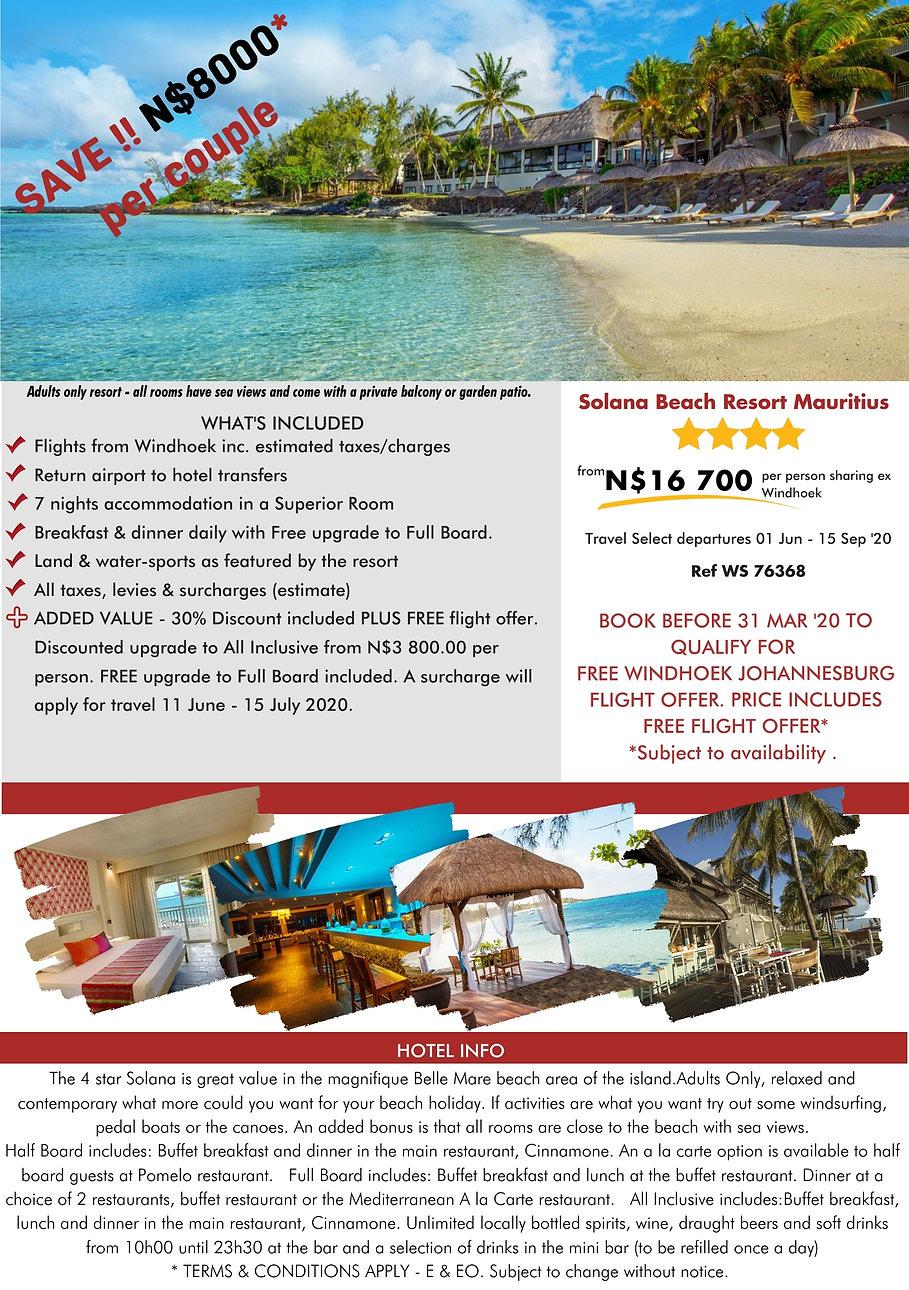 Solana Mauritius Beach Holidays
