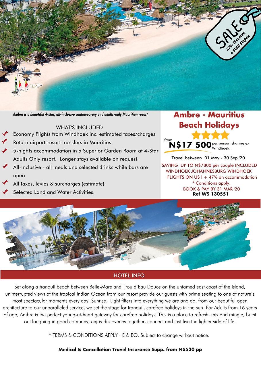 Ambre Mauritius Beach Holidays