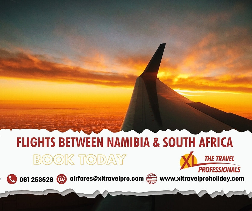 Flights between Namibia & South Africa