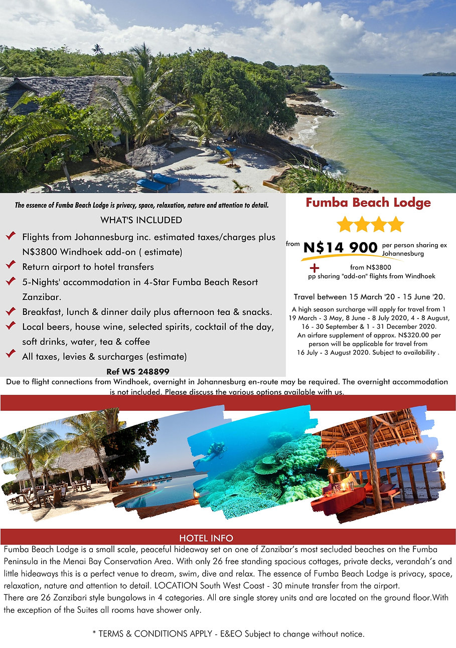 Fumba Beach Lodge Zanzibar Beach Holidays