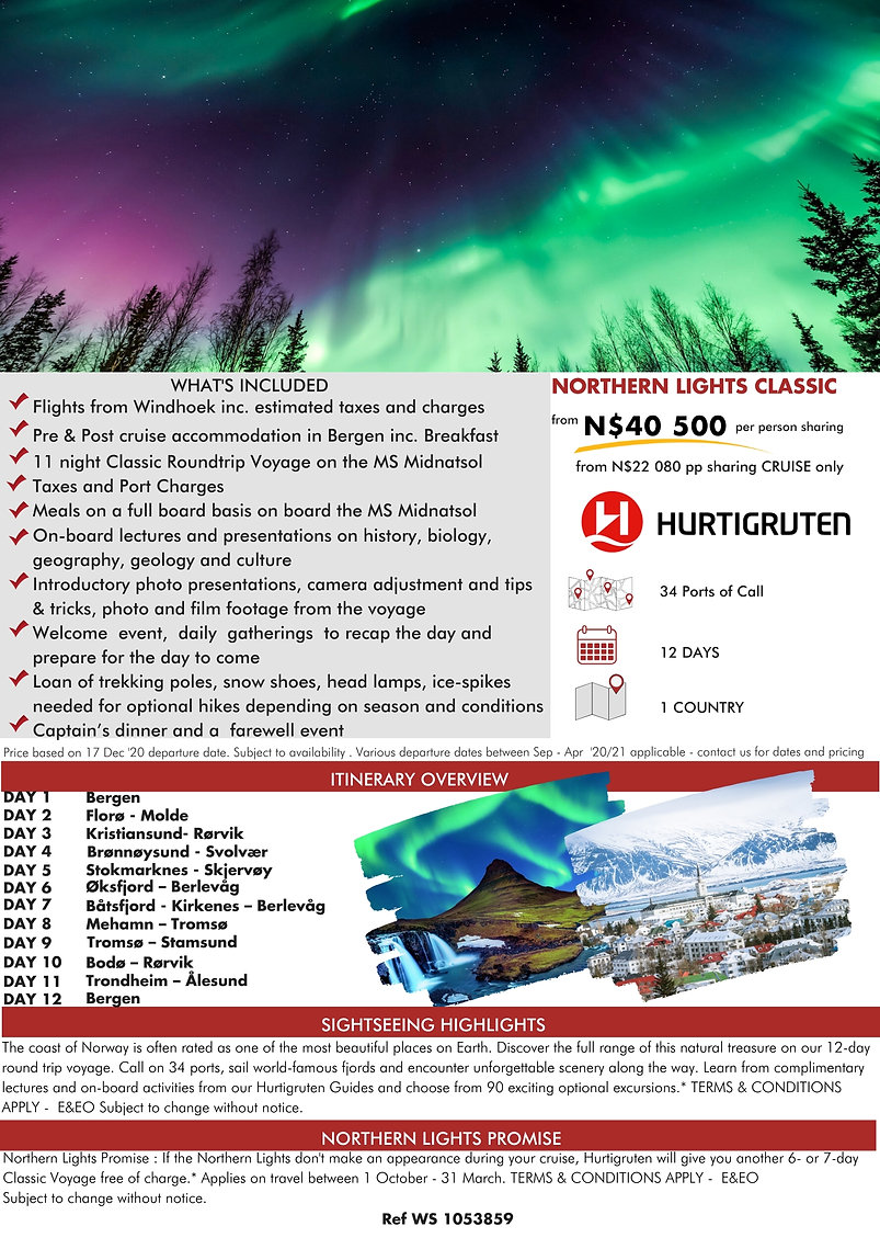 Hurtigruten Northern Lights Classic Voyage Guided Holidays
