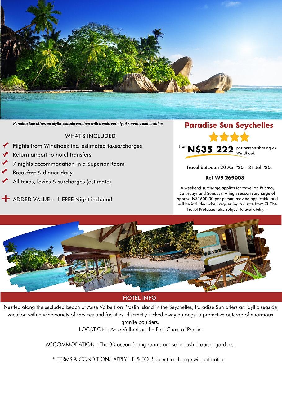 Paradise Sun Seychelles Beach Holidays