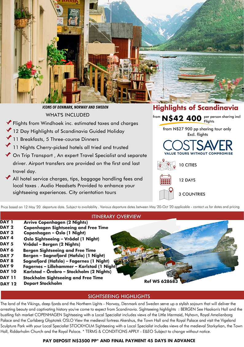 Costsaver Highlights of Scandinavia Guided Holidays