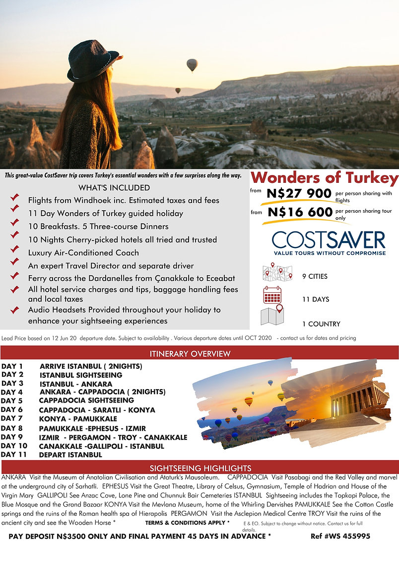 Costsaver Wonders of Turkey Guided Holidays