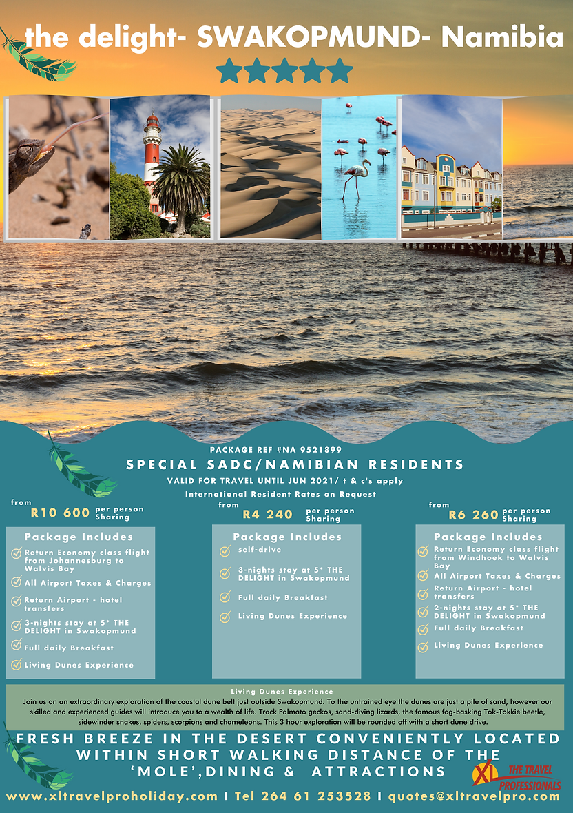 The Delight Swakopmund 3night Package