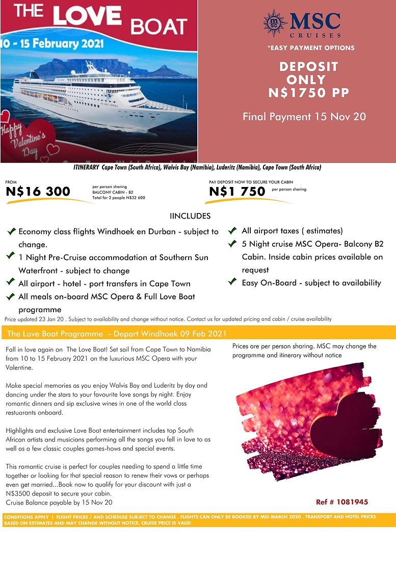 MSC OPERA The Love Boat Cruise Holiday