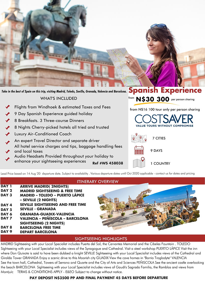 Spanish Experience Guided Holidays Costsaver