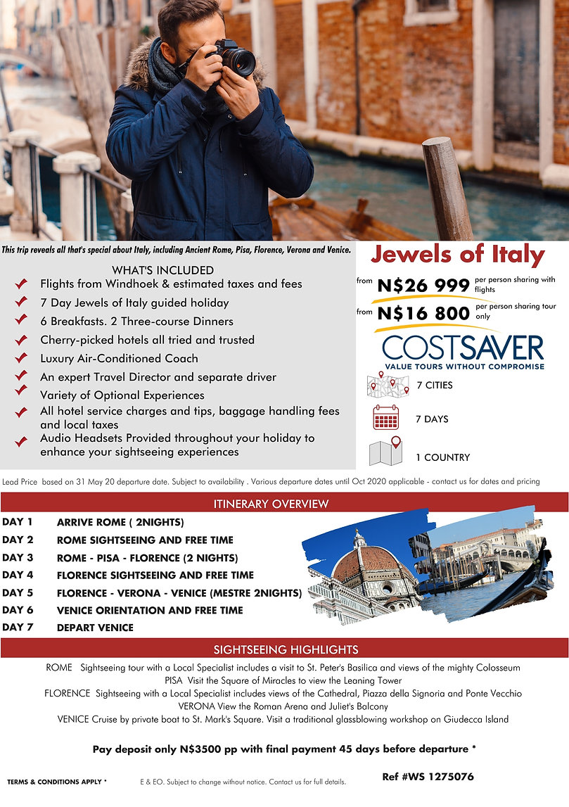 Costsaver Jewels of Italy Guided Holidays