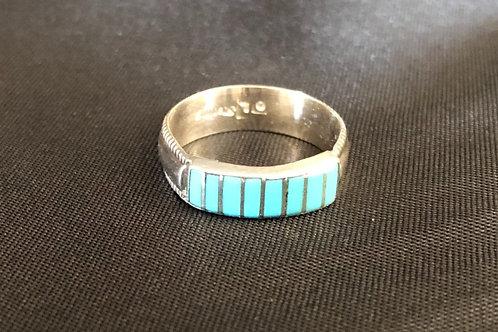 8 Stone Zuni Single Band Ring