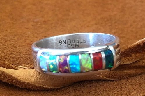 7 Stone Zuni Single Band Ring