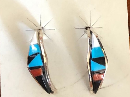 Traditional Multi Colored Earrings