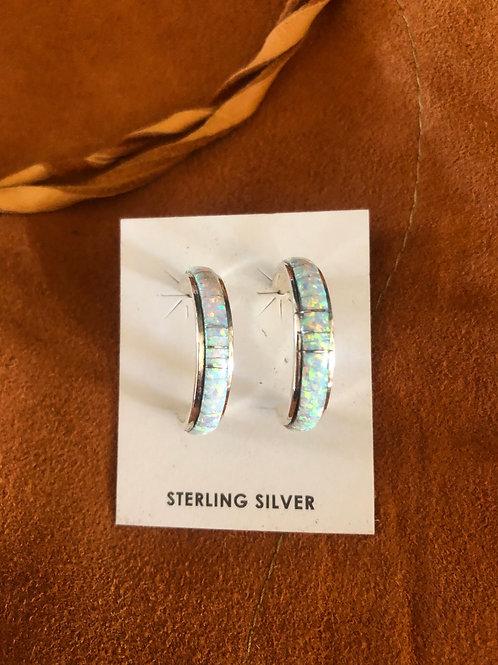 Created Opal Earrings