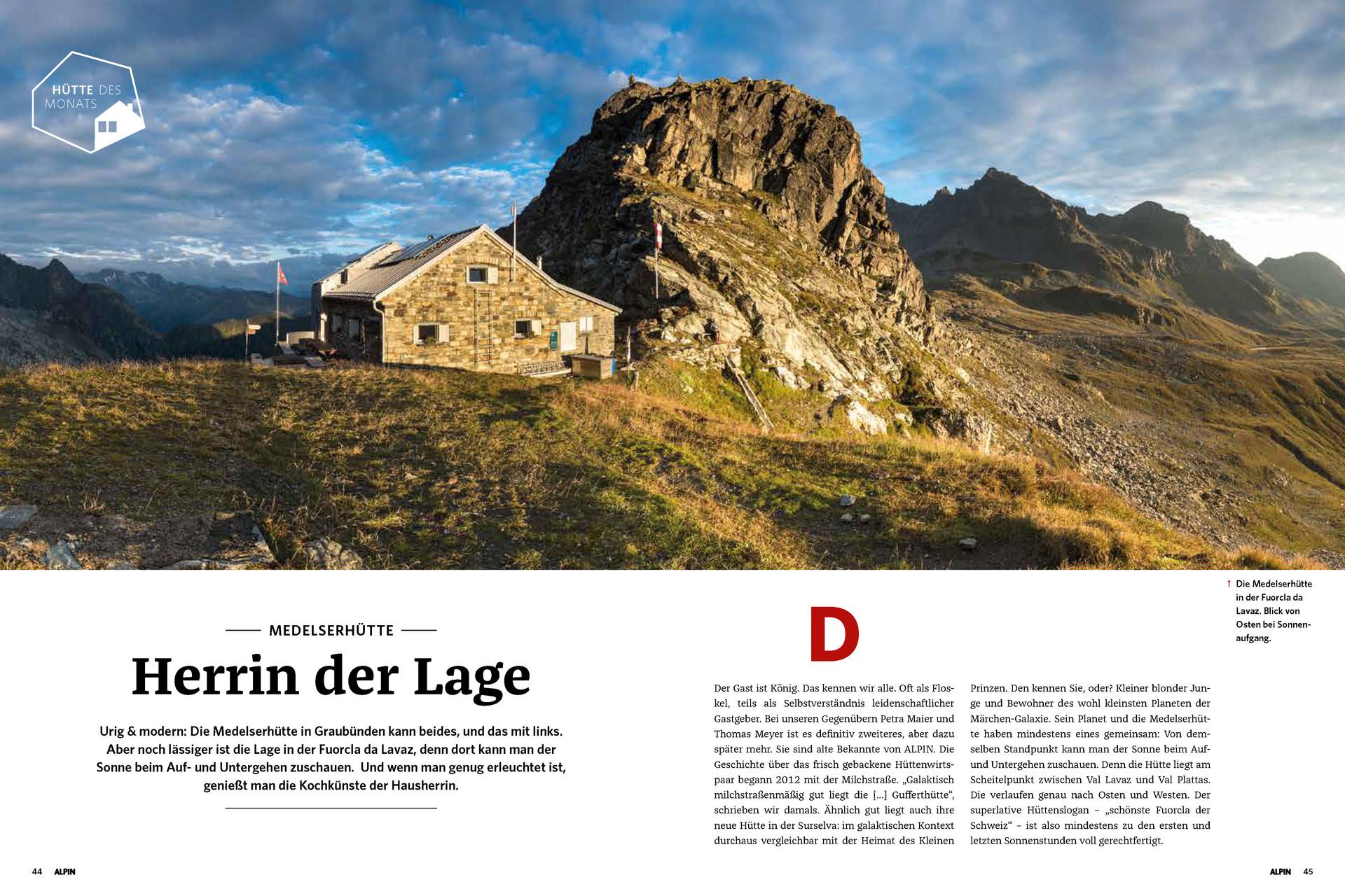 ALPIN-Hüttengeschichte 'Herrin der Lage' (05/'18)