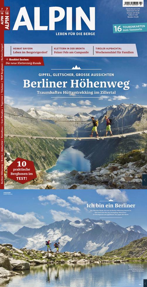 ALPIN-Titelgeschichte 'Ich bin ein Berliner', samt Titelbild (7/'18)