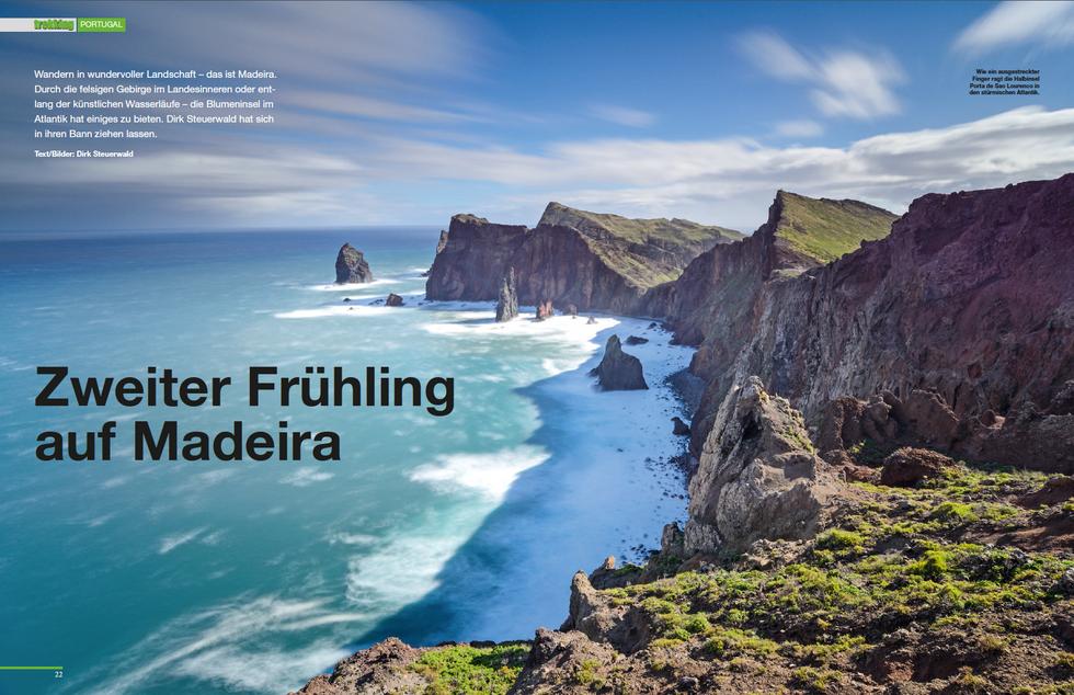 Trekkingmagazin-Reportage 'Zweiter Frühling auf Madeira' (9/'16)