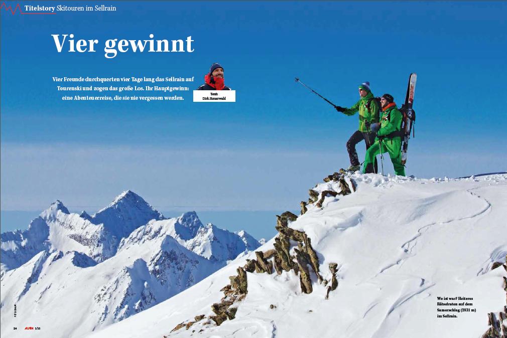 ALPIN-Titelgeschichte 'Vier gewinnt' - Skidurchquerung des Sellrains (2/'15)