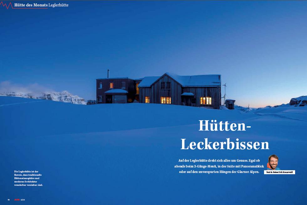 ALPIN-Hüttengeschichte 'Hütten-Leckerbissen' (12/'15)