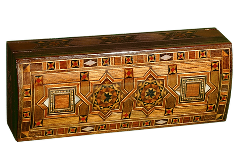 Damascus Mosaic Box With 2 Bars of Aleppo Soap 125g each 25% Laurel Oil