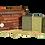 Thumbnail: Aleppo Soap Wooden Box/Coffret en Bois 25% Laurel Oil 3 Bars of 125g