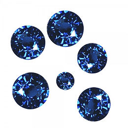 Saphirs bleus rond