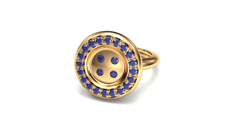 Bague or jaune _Great Story_ Saphirs ble