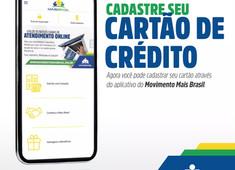 Cadastrar cartão de crédito pelo App.