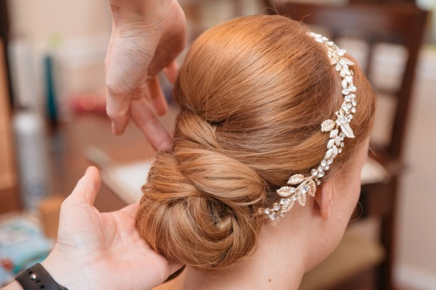 wedding hairstylist updo Virginia