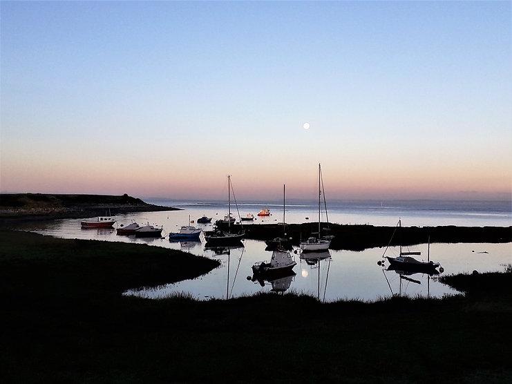 Harvest moon over Clevedon Pill, Septemb