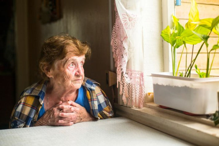 Lonely Old Woman - credit - depositphoto