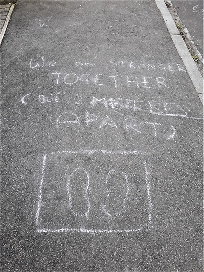Kings Road Message On Pavement, March, 2