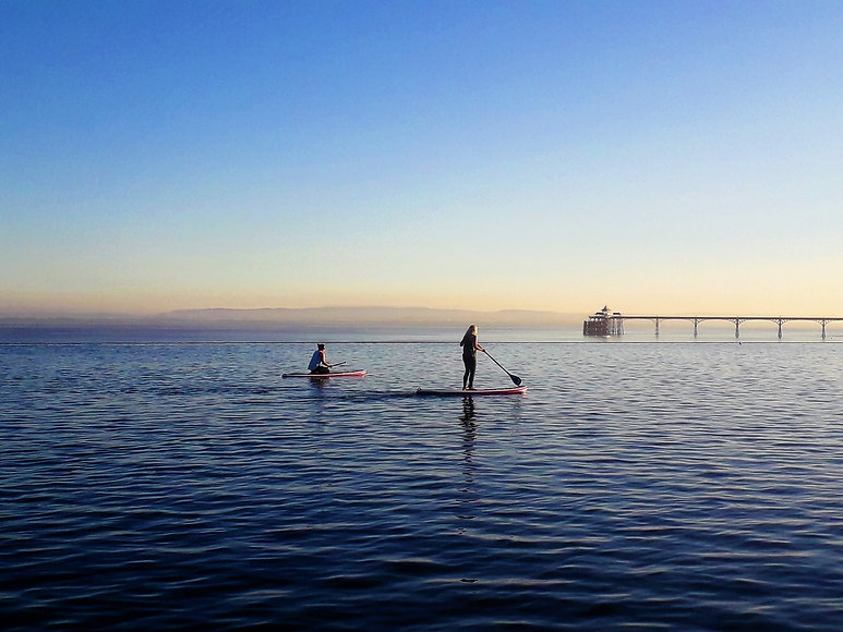 Marine Lake Paddle-boarders, August 7, 2
