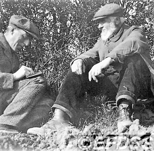 Cecil Sharp (left) & Edwin Clay - Credit