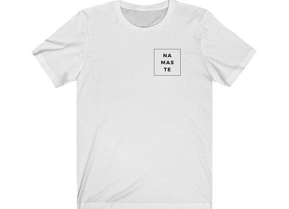 Namaste Unisex Jersey Short Sleeve Tee (White)