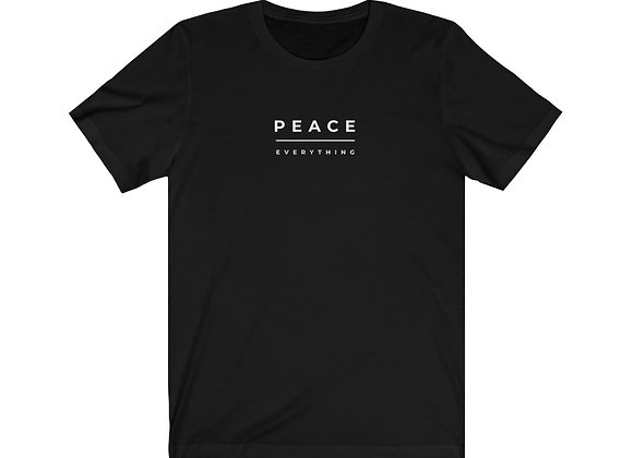 Peace Over Everything Unisex Jersey Short Sleeve Tee (Black)