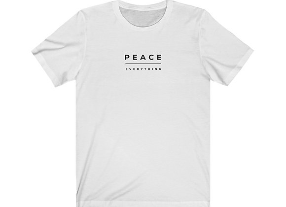 Peace Over Everything Unisex Jersey Short Sleeve Tee (White)