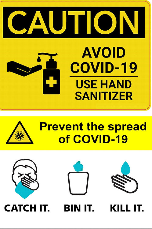 Pack of 4 Hand Hygiene Signage