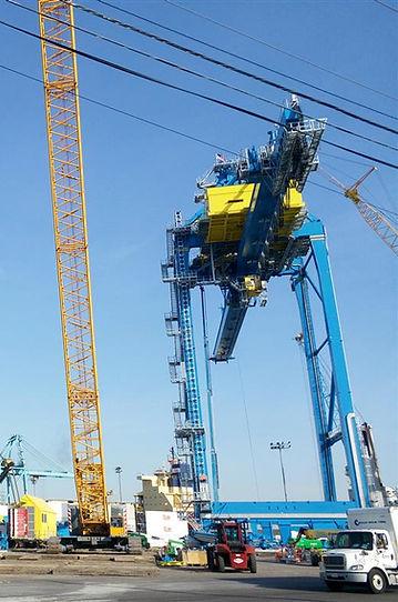 New Container Crane Erection