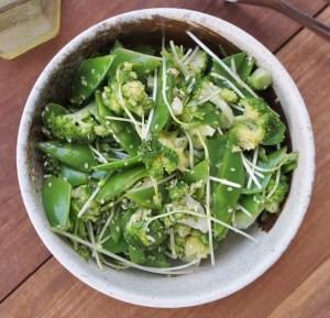 Broccoli and Snow Pea Sesame Salad