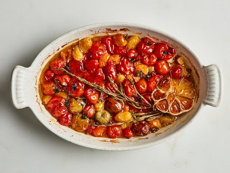 Slow-Cooked Cherry Tomatoes with Coriander and Rosemary